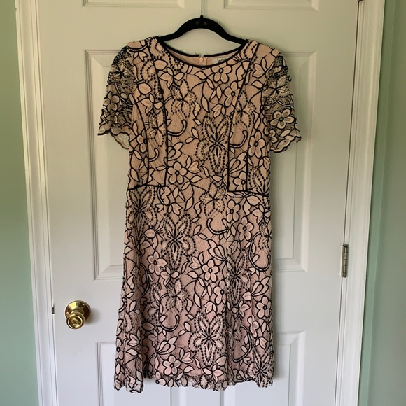 Pink Kenzie Lace Overlay Dress